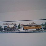 Can we all agree that this is hideous in a bathroom, even for train lovers?