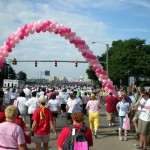 Race for the Cure, 2009. The ballons mark the race starting point.
