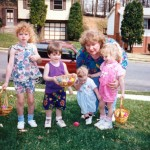 My Mom with Oldest Niece, My Naughty Bear, Youngest Nephew, Youngest Niece (now a mom), Easter 1994 (?)