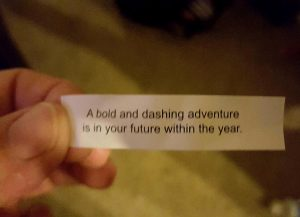 I got this in a fortune cookie the night before we got the big news!